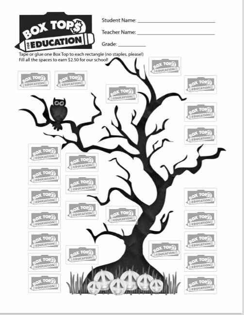graphic regarding Printable Box Tops Collection Sheets identify Box Tops for Instruction Variety Sheets Mother and father