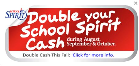 Double the Cash for School